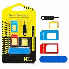 4 IN 1 PACK NANO TO MICRO STANDARD SIM CARD ADAPTER FOR VARIOUS MOBILE PHONES