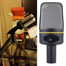 3.5mm Studio Professional Microphone Mic with Stand For Audio Sound Recording LK