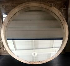 LARGE Modern Rustic Chunky Natural Round Wall Mirror NEW Hall Bathroom Lounge