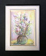 Schönes Blumengemälde mit Tulpen. Orig. altes Ölgemälde, Blumenstillleben monogr