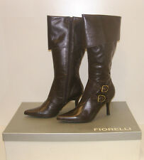 FIORELLI WOMENS POINTY WINTER BOOTS SIZE 9.5 LEATHER LADIES JAYE BROWN rrp $299