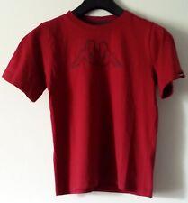 Kappa - Kinder Marken T - Shirt , Dunkel - Rot , Größe 152 , NEU