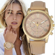 Women's New Fashion Geneva Roman Casual Quartz Watch Leather Analog Wristwatches