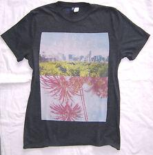 H&M Herren T-shirt blau mit Motiv Größe S