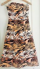 KOOKAI WOMENS DRESS DESIGNER LINED FLORAL PRINT WORK PARTY NEW SZ 34