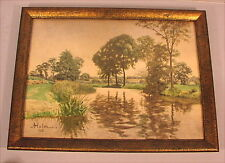 Altes Aquarell Jugendstil Hamburg von 1913