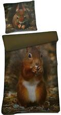Eichhörnchen Fotoprint Mikrofaser Bettwäsche Set 2 teilig 135х200 cm + 80x80 cm