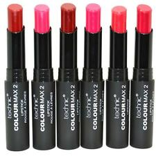 Set of 6 Technic Colour Max 2 Lipsticks Red Pinks Make Up Lipstick