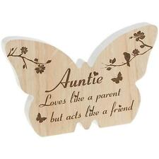 Auntie Gift - Butterfly wooden plaque with sentiment 60596