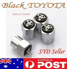 TOYOTA Logo Emblem Wheel Tyre Tire Valve Stems Air Dust Cover Screw Caps Car NEW