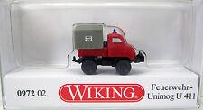 Wiking 097202 Unimog U 411 - Feuerwehr  Scale / Maßstab 1/160 Nenngröße N