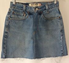 Vintage High Waist Retro Levi's Levi Levis Blue Denim Skirt Reworked Size 8