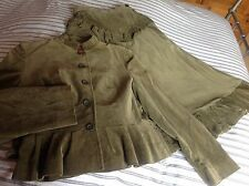 Vintage mary quant Two Piece Green Velvet Skirt Suit Size Small