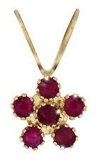 Rubin  Anhänger  Rubine 585  Gold  14K Gelbgold   Ruby