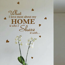 Family Home Love Heart Art Wall Stickers Quotes Wall Decals Wall Decoration 40-4