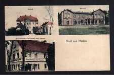 102996 AK Modlau bei Haynau Schlesien Modla 1921 Bahnhof Schloß Geschäftshaus Ad