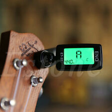 Digital Chromatic Clip On LCD Tuner Electric Guitar Acoustic Bass Ukulele Violin