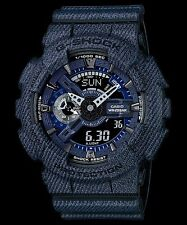 GA-110DC-1A Black/Blue Casio Watches G-Shock 200M Analog Digital X-Large Resin