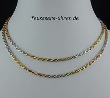 TOP 80 cm Kette VERONESE ITALY Silber 925 Tricolor 2,8 mm Collier QVC