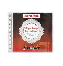 GENUINE JANOME Giga Hoop Embroidery Collection 1 - CD 50 Designs - Stitchitize
