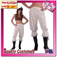 Womens Steampunk Pants Medieval Pantaloons Fancy Dress Costume One Size 10 - 16