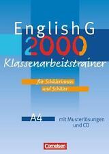 English G 2000. Ausgabe A 4. Klassenarbeitstrainer, 8.Klasse, CD,Musterlösungen