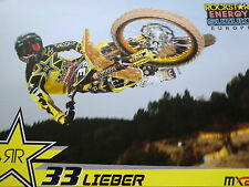 Motocross Poster LIEBER #33 MX2 Rockstar Energy Suzuki Europe