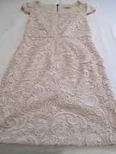"""""""DARLING"""" GORGEOUS GORGEOUS GORGEOUS CREAM LACE FITTED PARTY EVENING DRESS UK 8"""
