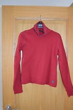 Designer GAS Ladies Red Poloneck Jumper Top Size S Small 10