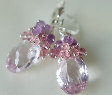 Amethyst Topas Traum Ohrringe Silber 925 Amethyst Topaz Dream Earrings Silver
