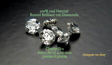 REAL 100% NATURAL Loose 6 Round diamond Clarity SI-1 Color-G-H White Colour