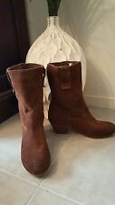 "TONY BIANCO SZ 7 'Chestnut"" Tan Suede Boots RRP $ 189.95 Buy Any 3=Free Post"