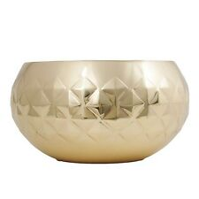 NEW Gold Metallic Bowl Home Decor Modern Diamond Pattern Homewares Quality