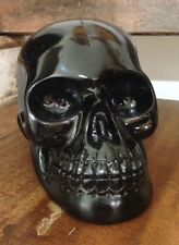 Resin Candy Skull Day of the Dead Mexican Sugar Skull Figurine Black Small