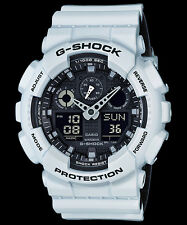 GA-100L-7A White G-shock Casio Watches 200m Resin Band Analog Digital New Light
