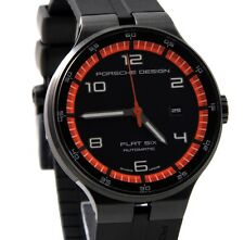 Porsche Design Flat Six P'6350 Automatik Uhr Datum Edelstahl UVP*2.990 €    NEU