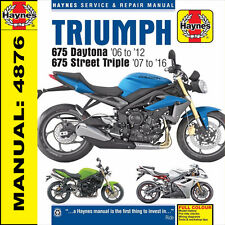 Triumph 675 Daytona 675 Street Triple R 2006-2016 Haynes Manual 4876 NEW