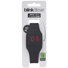 New Blink Time LED Digital Watch Black Touch Operated Medium To Large Wrist