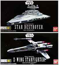 2 Star Wars Mini Model Kits - Star Destroyer and X Wing Starfighter by Bandai