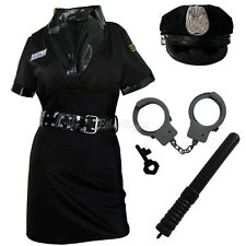 Police Officer Woman Costume Cop Uniform Fancy Dress Halloween Hens Party Outfit