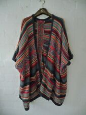 Monsoon Soft Multi-Colour/Pattern Loose Poncho Style Open Cardigan - One Size