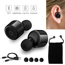 Wireless Bluetooth 4.2 Stereo In-Ear Headset Earphone Earbuds For iPhone LG HTC