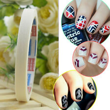 12m Fancy White Stripe DIY French Nail Art Tips Tape Guide Stencil Manicure Tool