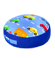 Traffic Express Print Children Large Floor Cushion Soft Filled Play Seat Pillow
