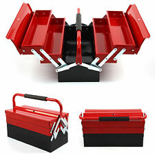 Heavy Duty Metal Cantilever Tool Box Tool Storage 3 Tier 5 Tray Workshop 430mm