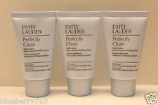 New! 3 x Estee Lauder Perfectly Clean Multi-Action Foam Cleanser/Mask 3oz/90ml