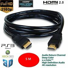 5m HDMI Male to HDMI Male PC/LAPTOP/SKY/XBOX 360/HDTV Gold Plated Ver1.4 Cable