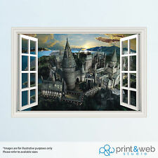 Harry Potter Hogwarts 3D Window View Decal Wall Sticker Art Mural Kids