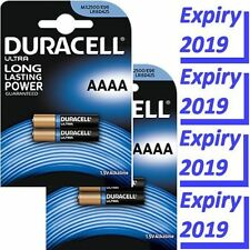 4 x Duracell AAAA Batteries (MX2500, E96, LR61) Very latest specification