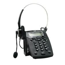 Business Telephone With Corded Headset Call Center Phone Dial pad LCD Earphone